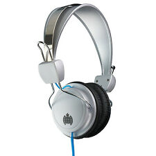Ministry of Sound MOS004 Headphone - Wired On Ear Siver/Black with blue cable