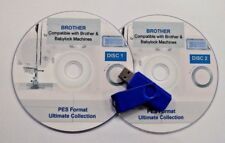 129,877 Brother Pes Embroidery Designs Patterns Designs on 8Gb Usb Stick