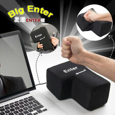 Funny Big Enter Stress Relief Enter Key Unbreakable USB Pillow Desktop Punch Bag