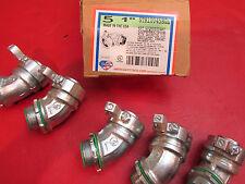 "American Fittings  45 degree 1"" Liquid Tight connector STR10045BGL Grounding Lug"
