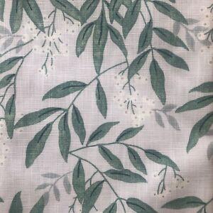 LAURA ASHLEY Greendale Grey Green Fabric Material NEW 137 x 980 cm ~ 9.8 Metres