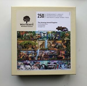 Wentworth Wooden Jigsaw Puzzle - Amazing Animal Kingdom - 250 pieces complete