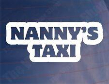NANNY'S TAXI Funny Novelty Car/Van/Window/Bumper Vinyl Sticker/Decal