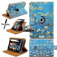 """For Various 7.0"""" 8"""" 10.1"""" Lenovo Tablet - Leather 360° Rotating Stand Cover Case"""