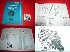 Ersatzteilbuch _ pièce de rechange liste _ catalogue de pièces de rechange _ CB 400 N _ année-modèle 1982
