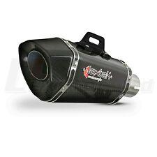 """LEXTEK XP8C Carbon Fibre Hexagonal Exhaust Silencer 2"""" 50.8mm Slip-on Can"""