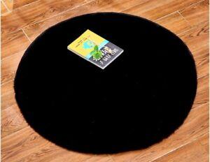 Soft Round Faux Rabbit Fur Rug Fluffy Wool Carpet Bedroom Living Bedroom Mat