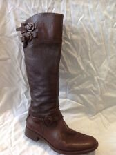 Aldo Brown Knee High Leather Boots Size 37