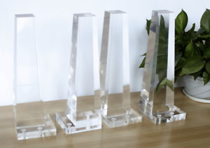 """9"""" Lucite Legs Furniture Acrylic Legs Clear (set Of 6)"""
