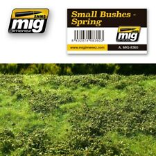 AMMO of Mig Jimenez Realistic Ground Mat - Small Bushes in Spring (230 x 130 mm)