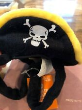 Pet Black Pirate Hat Costume Size M/l