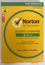 *NEW SOME BOX DAMAGE* Norton Security Standard, 1-Year, 1-Device, 1-User