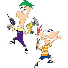 """Phineas 16""""x11"""" and Ferb 20""""x12"""" Disney Fathead Vinly Wall Graphics all 26""""x17"""""""