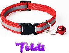 Pet Cat Dog Reflective Collar Flashing Light Up Nylon Night Safety Collars