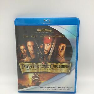 Pirates of the Caribbean: The Curse of the Black Pearl (Blu-ray Disc, 2007,...