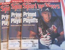 LOT of 3 ANDRUW JONES ATLANTA BRAVES 2000 THE SPORTING NEWS MAGAZINEs