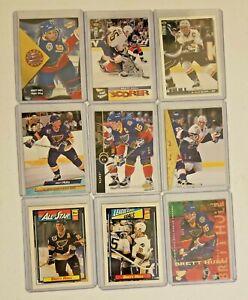 Brett Hull St Louis Blues 9 NHL hockey card lot