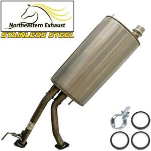 Stainless Steel Exhaust Center Muffler fits: 2001 - 2007 Toyota Sequoia 4.7L