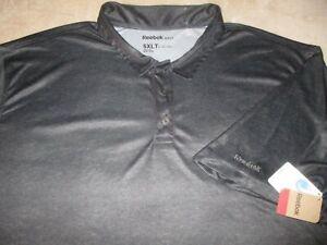 NWT Mens - REEBOK GOLF - Polo Shirt Grey Polyester 5XLT 5XL XXXXXL TALL NEW