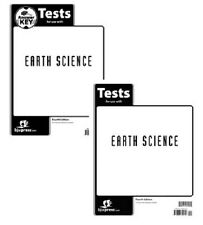 BJU Press Earth Science Tests aand Test Key- 271502 &271536