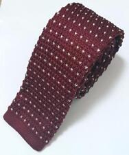 Fashion Men's Polka Dot Heart Knit Knitted Tie Slim Skinny Woven UK