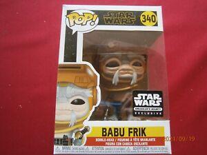 Star Wars Babu Frik Smugglers Bounty Exclusive Funko Pop 340 RARE