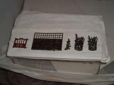 VINTAGE BRITAINS LEAD GARDEN GATE 3 SHRUBS & FENCE PRE WAR PLEASE STUDY THE PICS