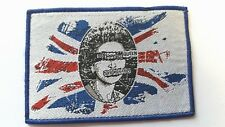 SEX PISTOLS  GOD SAVE THE QUEEN BLUE BORDER WOVEN  PATCH