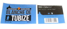 Etiquette de bière  - BLANCHE DE TUBIZE