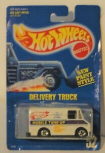 Hot Wheels 1991 #52 Delivery Truck Mobile Tune Up on blue card