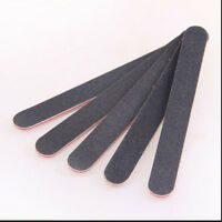 10Pcs Black Double Sided Nail Art Manicure Sanding File Buffer Grits 100/18RGS