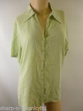 MARKS & SPENCER Damas Verdes Camisa De Manga Corta Blusa Camisa Trabajo