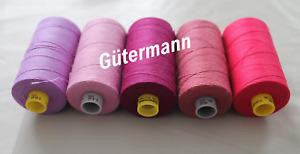 Gütermann Nähgarn Stärke 80 Polyester 4000 Meter Garn 5 verschiedene Farben