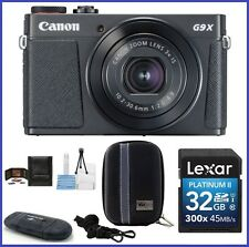 Canon PowerShot G9 X Mark II Digital Camera [Black] 32GB Bundle- Canon Dealer!