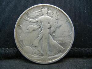 1919 D 50C Walking Liberty Half Dollar 90% Silver