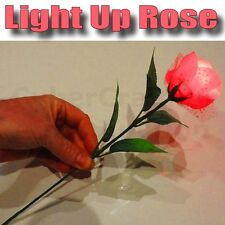 LIGHT UP ROSE MENTALIST FLOWER MAGIC TRICK USE WITH RED LITE THUMB TIP NEW STAGE