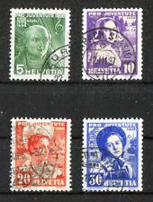 Schweiz 306 - 309 sauber gestempelt Pro Juventute 1936 Michel 40,00 € used