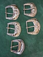 5x Gürtelschnalle Dornschnalle Gürtelschließe 26mm Muster Metall Silberfarben