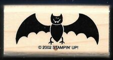 BAT WINGS VAMPIRE FANGS Stampin' Up! 2002 Halloween Gift Tag craft RUBBER STAMP