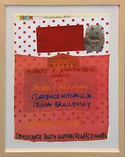 "ROBERT RAUSCHENBERG ""DEMOCRATIC PARTY HUMAN RIGHTS DINNER"" 1981 