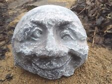 """concrete plaster winking rock poly plastic mould free standing 5.75"""" x 4"""" x 2.5"""""""