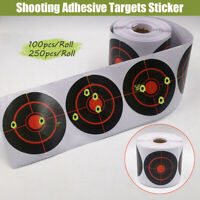 100pcs/250pcs Roll Shooting Adhesive Targets Splatter Reactive Target Sticker