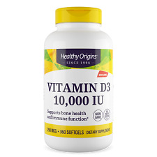 Healthy Origins High Strength Vitamin D3 360 Softgels Bone Health Immune System