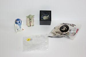 Star Wars Lucasfilm Magic Cube, R2 D2 Figurine, Yoda Figurine, Millennium Falcon