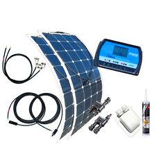 200 Watt Wohnmobil Solar-Set 12V, flexibel biegsames Solarmodul, semiflexibel