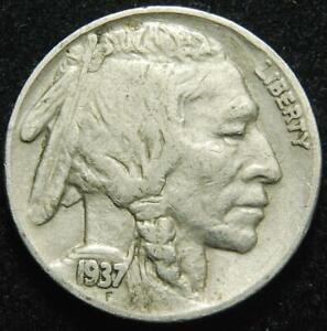 USA Indian Head / Buffalo 5 cents 1937
