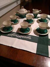 Vintage Czechoslovakia Czech 4 Leaf Clover Tea Set with A Little History