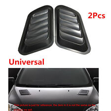 Pair Car Auto SUV Decorative Air Flow Intake Scoop Turbo Bonnet Vent Cover Hood