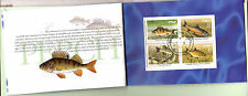 IRLANDE carnet 1347a/b/c Poissons  Stamps booklet of 16 , fish of river ,52m15