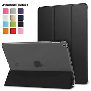 "Apple iPad Air 2 iPad 6 9.7"" compatible Leather Smart iPad Case Cover Stand"